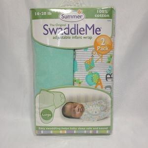 Summer Sweaddle Me Infant Wrap 2 Pack Size L